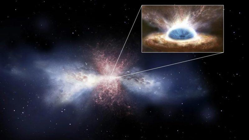 Зафиксирован огромный выброс вещества черной дырой из центра нашей галактики