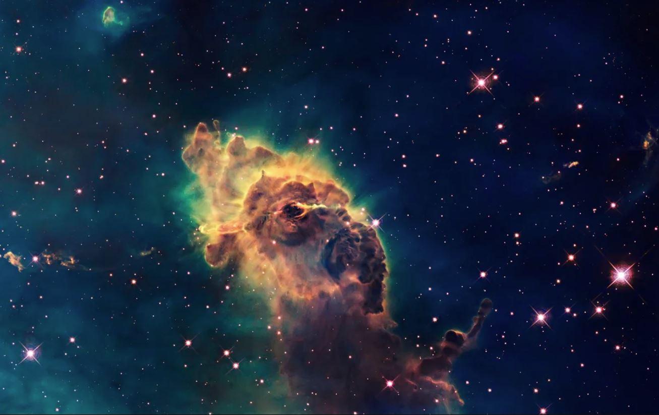 Телескоп Хаббл смог заснять «улыбку» Вселенной